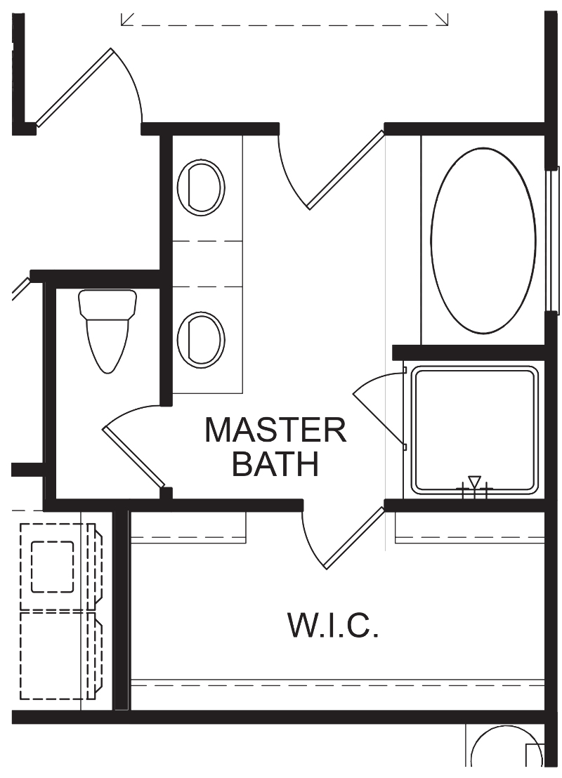 Alexandria AA Optional Master Bath Layout