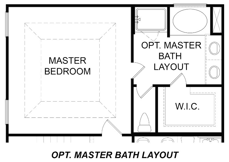 Boxwood Alt. Master Bath Layout