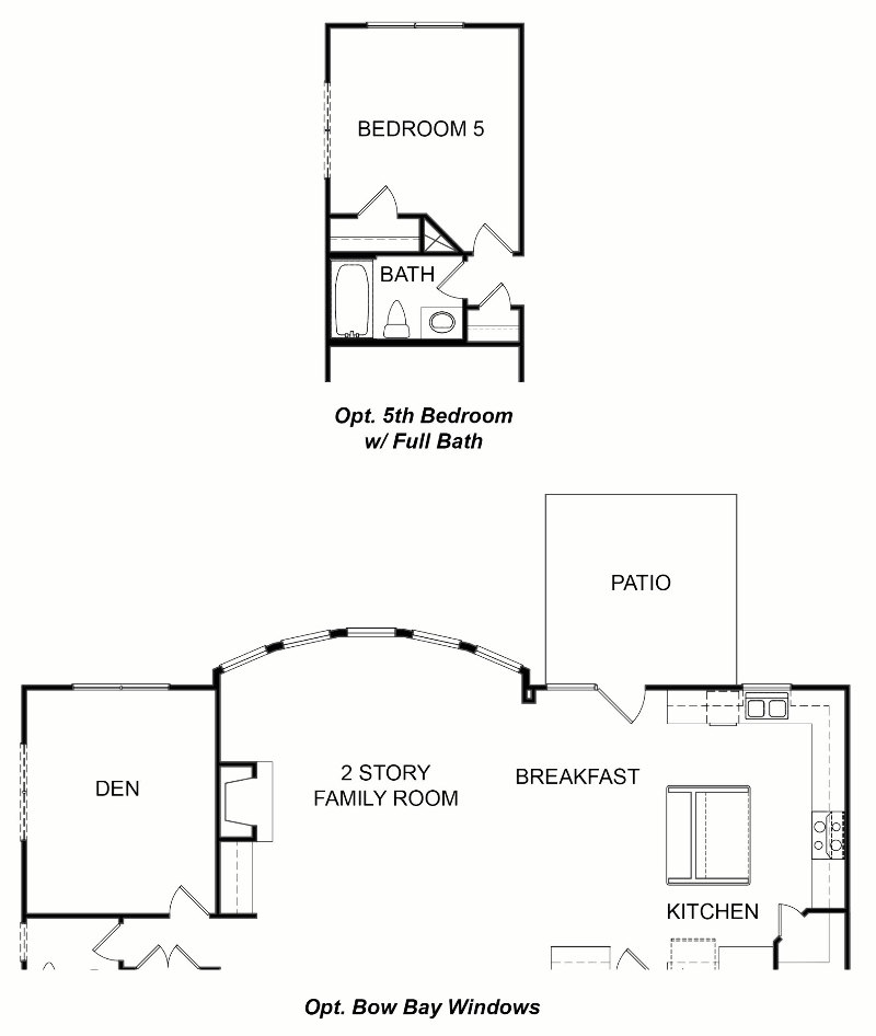 Hillsdale First Floor Options
