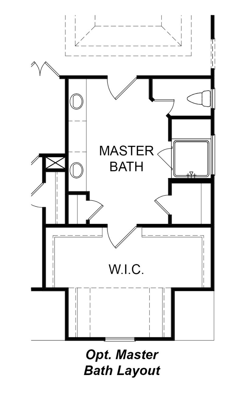 Optional Master Bath Layout