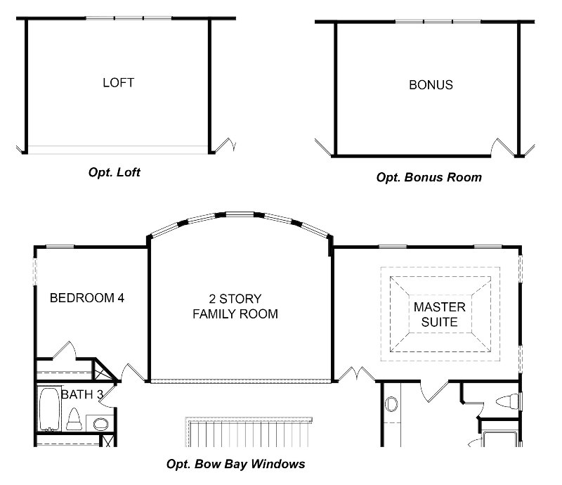 Hillsdale Second Floor Options
