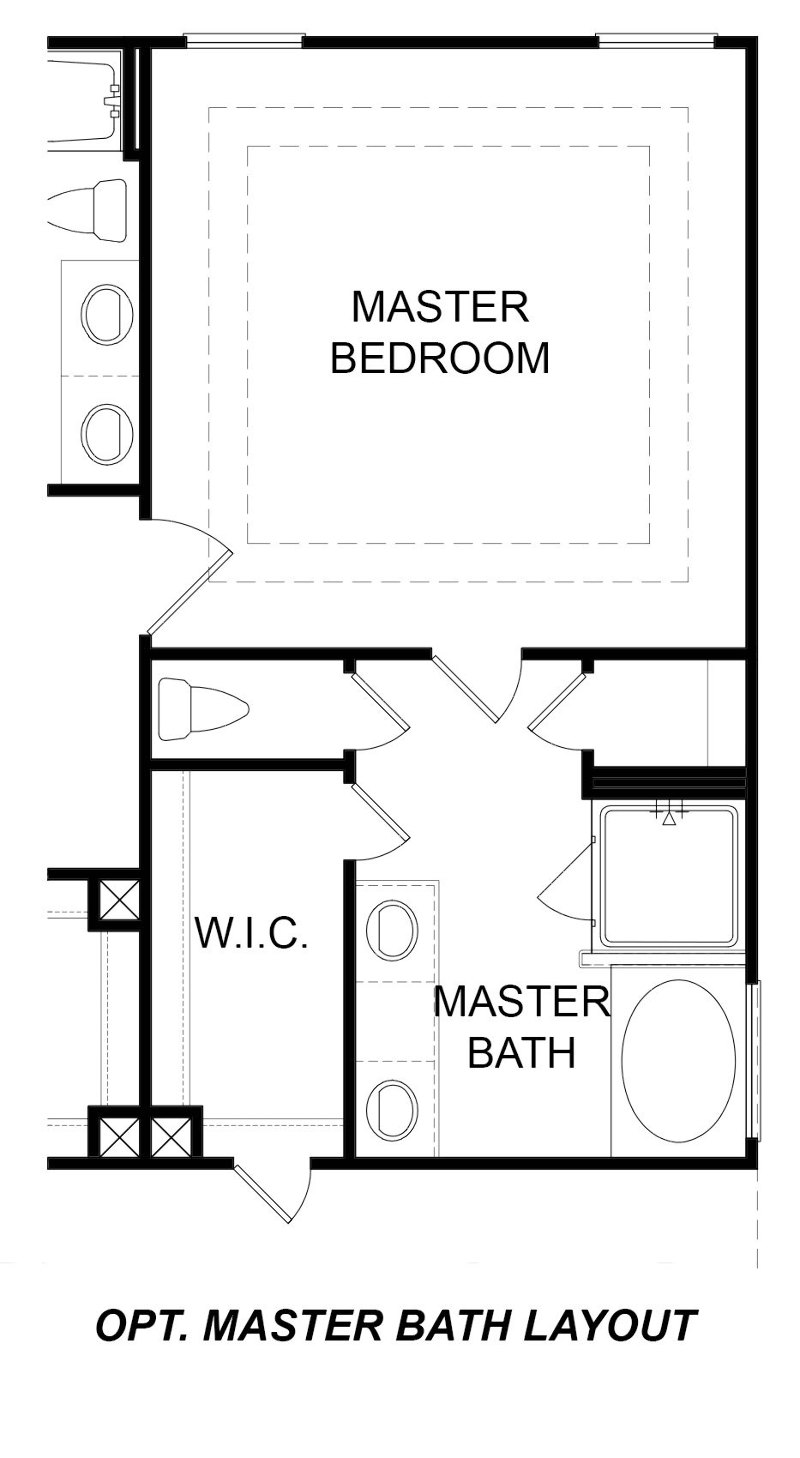 Alternate Master Bath Layout