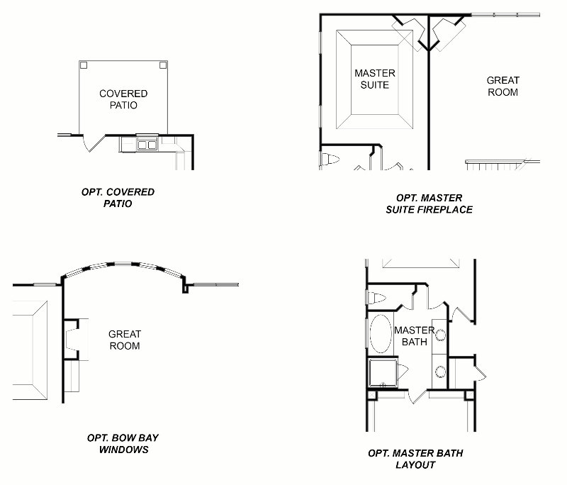Ridgewood First Floor Options