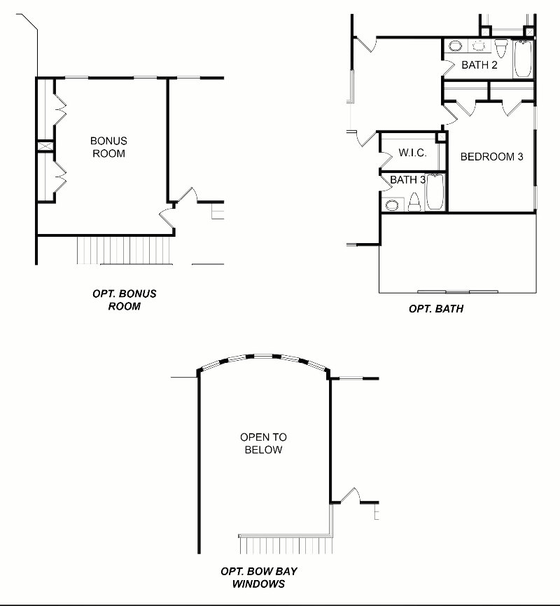 Ridgewood Second Floor Options