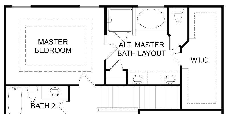 Ranier Alternate Master Bath Layout
