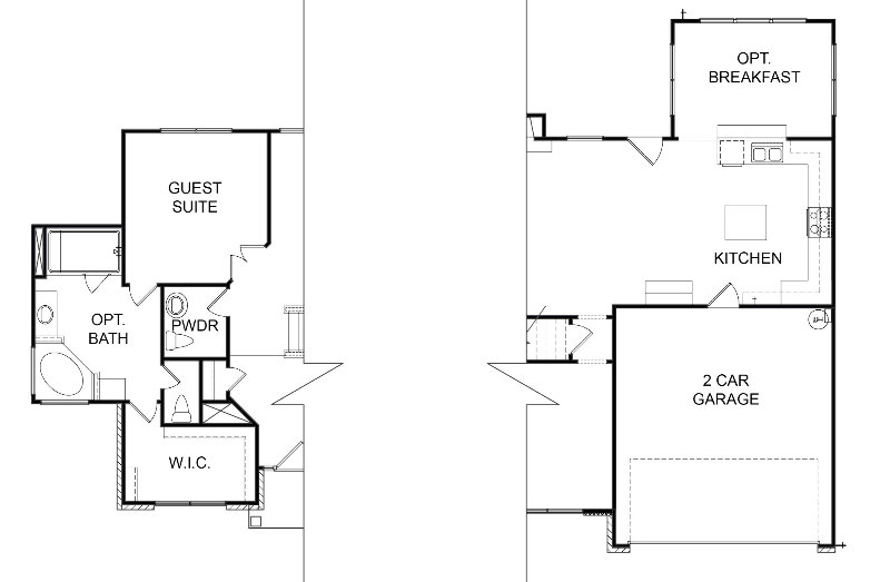 Tacoma First Floor Options
