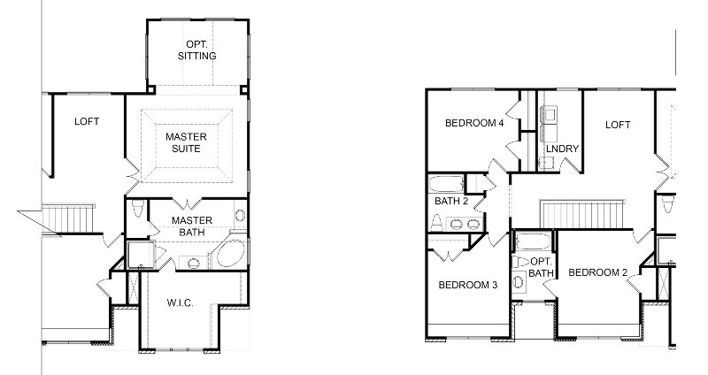 Tacoma Second Floor Options